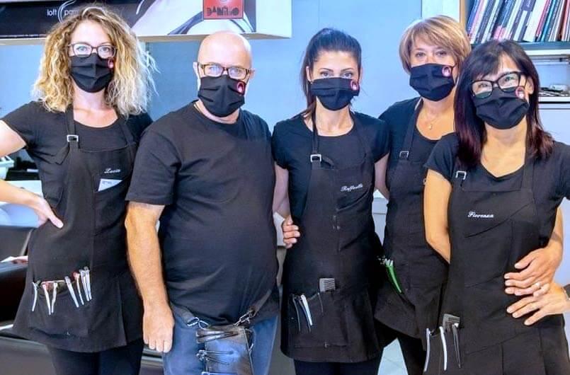 Lo staff del salone Danilo parrucchieri di Senigallia in provincia di Ancona